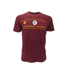 T-shirt ufficiale bordeaux di Harry Potter BINARIO 9 e 3/4