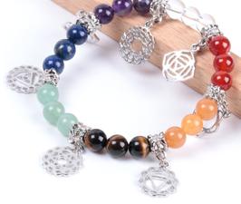 7 Chakra - Bracciale con i simboli dei Chakra - modello 6