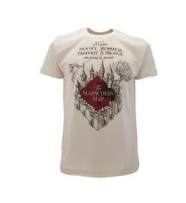 T-shirt ufficiale bianca di Harry Potter MAPPA DEL MALANDRINO