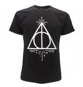 T-shirt ufficiale nera di Harry Potter con lo stemma di SERPEVERDE