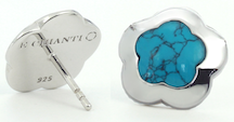 Emanuel Chianti, Fiore Single stud earrings turquoise