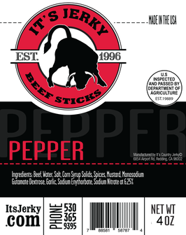 Pepper Beef Sticks