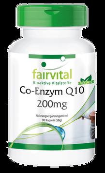 Co-Enzym Q10 200mg Hochdosiert - 90 Kapseln