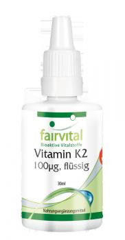 Vitamin K2 flüssig 100µg pro 10 Tropfen - 30ml