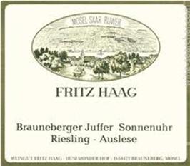 Fritz Haag Brauneberger Juffer Sonnenuhr Riesling Auslese 2013