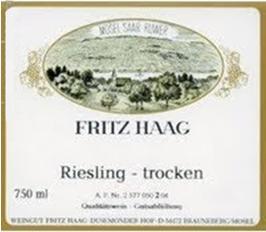Fritz Haag Riesling Trocken 2013