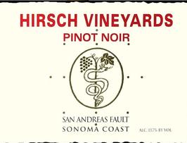 Hirsch Winery Pinot Noir San Andreas 2012