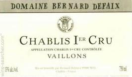 Bernard Defaix Chablis 1er Cru Vaillons 2015