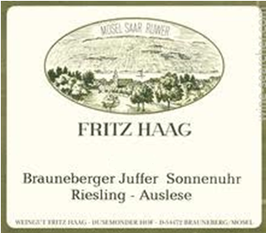 Fritz Haag Brauneberger Juffer Riesling Auslese 2012