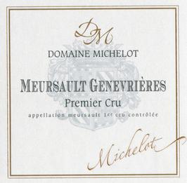 Domaine Michelot Meursault Genevrières 2012