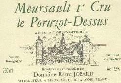 Rémi Jobard Meursault 1er cru Le Poruzot-Dessus 2012