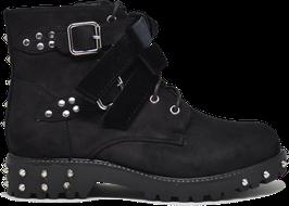 Kylie Black Studded Velvet Boots ES8501