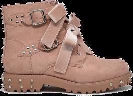 Kylie Pink Studded Velvet Boots ES8501