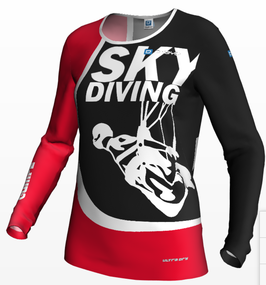 Women's Jersey skydiving red