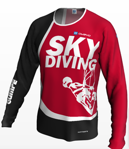 Men's Jersey skydiving/red