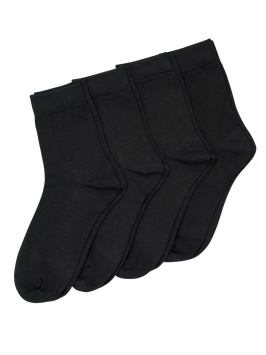 COOLMAX SOCK BASIC 4-pack // schwarz