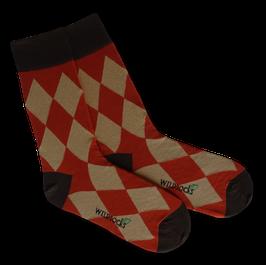 Socken von WILDSOCKS - Close Orange Bio-Baumwolle