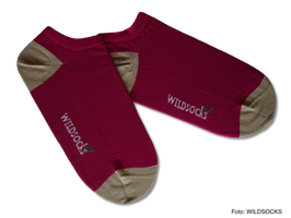 Sneaker-Socken von WILDSOCKS - Energy Purple Bio-Baumwolle