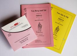 Von Berg und Alp, Zwei Notenhefte mit CD