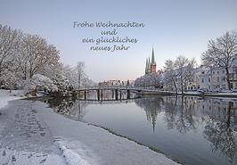 Postkarte Lübeck - Frohe Weihnachten