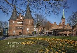 Postkarte Lübeck -Holstentor