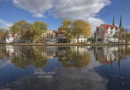 Postkarte Lübeck - Malerwinkel
