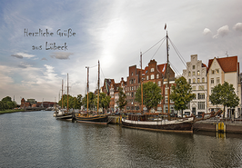 Postkarte Lübeck - Untertrave