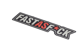 FAST AS F*CK - STICKER -
