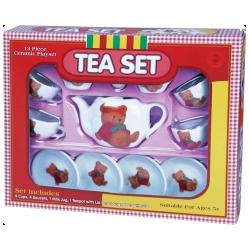 Service à thé de l'ourson repu. Dînette