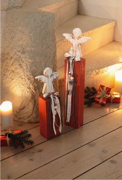 """Weihnachtliche Deko-Säule """"Engel"""" 2er-Set"""