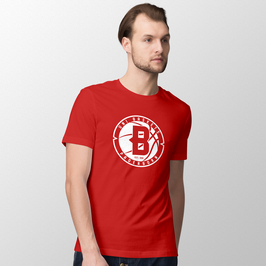 "Basic T-Shirt ""B - red""- Herren Saison 18/19"
