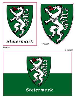 Steirer Aufkleber Set STEIERMARK Panther