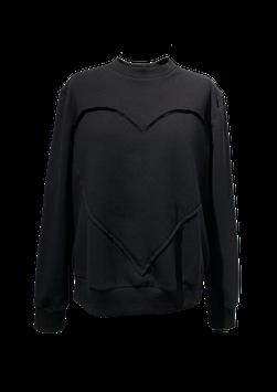 Sweatshirt BLACK mit Herz