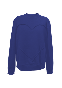 Sweatshirt BLUE mit Herz