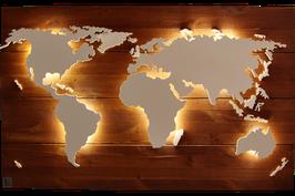 "Holz Weltkarte ""Teak"" (diverse Größen)"