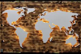 "Holz Weltkarte ""Fire"" (diverse Größen)"