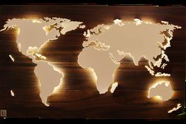 """Weltkarte """"Larrea"""" (diverse Größen)"""