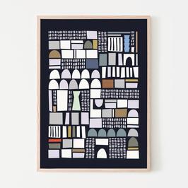 Abstrakte Muster Poster SILVIA VISSCHER