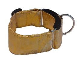 Collier sécuritaire paisley or (réf  tissu large 116)