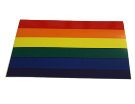 Regenbogen flagge Aufkleber, Rechteck, groß