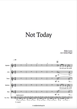 "Notensatz ""Not Today""  -  Notation 'Not Today'"