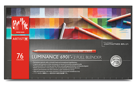 Caran d' Ache Luminance 6901- 76 stuks + 2 full blender