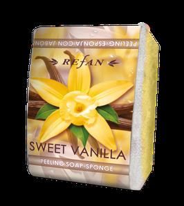 Refan Peelingschwamm mit Seife Sweet Vanilla 80g
