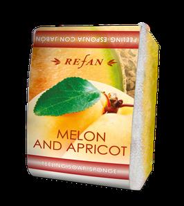 Refan Peelingschwamm mit Seife Melon & Apricot 80g