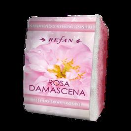 Refan Peelingschwamm mit Seife Rosa Damascena 80g