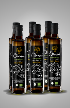 6-er-Set Biologisches Olivenöl Nativ Extra
