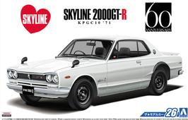 Nissan Skyline 2000 GT-R KPGC10 (1971) - Aoshima 52327