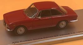 ALFA ROMEO GIULIA GT VELOCE 1.6 (1966) ROSSO