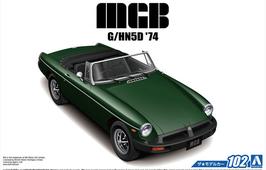 MG B Roadster (1974) - Aoshima 102