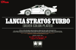 Lancia Stratos Turbo Silver Plated Version - Tamiya 25418